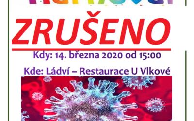 14. března 2020 Karneval ZRUŠEN